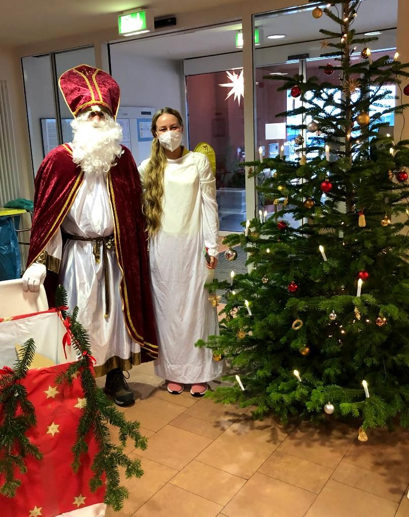 Nikolaus und Weihnachtsengel in Hornberg